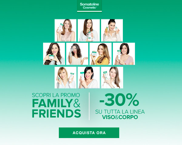 Somatoline Cosmetic: sconto 30% promo family and friends