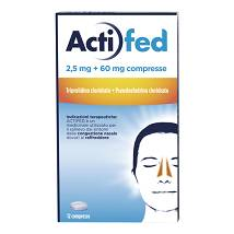 ACTIFED Compresse 12 compresse 2,5 mg+60 mg