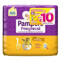 PAMPERS Progressi Sensitive NewBorn 28 Pannolini Taglia 1