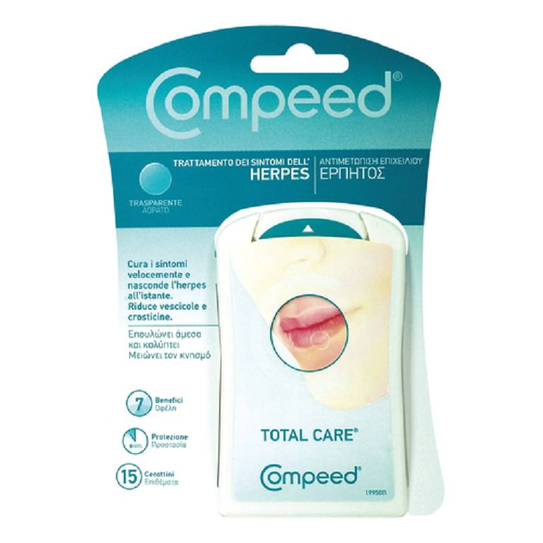 COMPEED First Aid Herpes Cerotto Trasparente 15 pezzi
