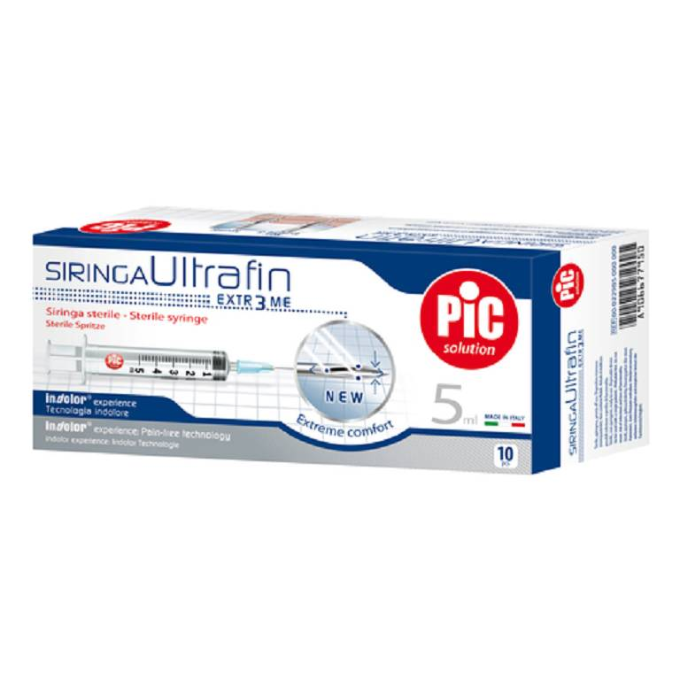 PIC Siringa Ultrafine 5ml 10pz
