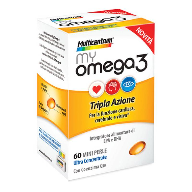MULTICENTRUM MYOMEGA 3 60 perle mini disponibile anche il formato 120 perle