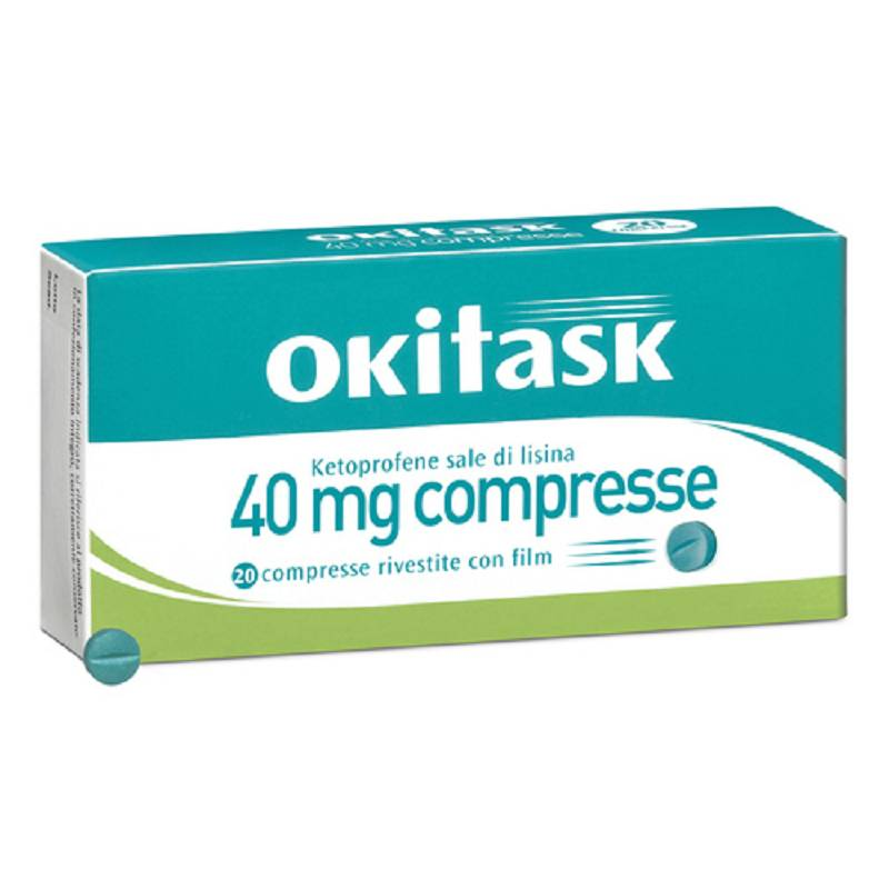 Okitask 20 compresse rivestite 40 mg